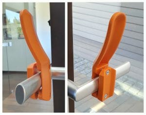 vertical, narrow - hands-free door opener